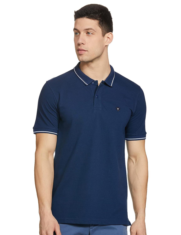 Van Heusen Men's Solid Regular Fit Polo
