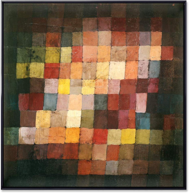KUNSTKOPIE.DE edles Leinwandbild  Schattenfugenrahmen - - - Harmonie - von Paul Klee in Größe XL  8c5c91