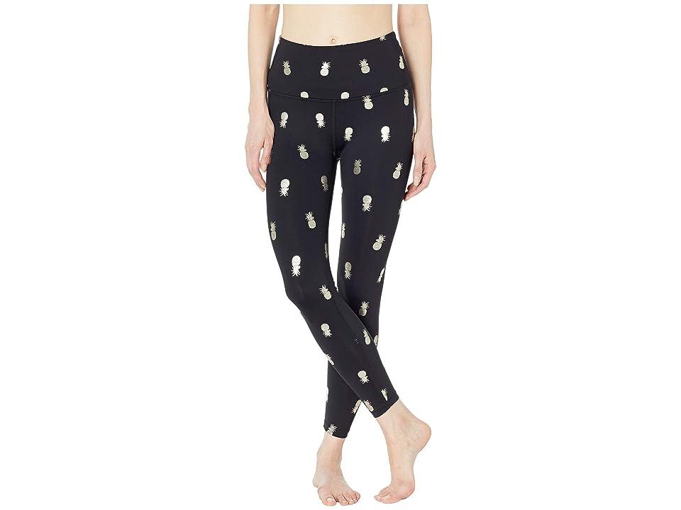 Beyond Yoga High-Waisted Midi Leggings (Black Pineapples) Women