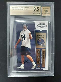 Brian Urlacher 2000 Playoff Contenders ROOKIE RC AUTO #103 BGS 9.5 10 GEM MT - Football Slabbed Autographed Rookie Cards