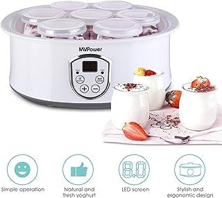 comprar comparacion MVPower Yogurtera con Termostato Ajustable y Temporizador, 7 Tarros de 180ml, Máquina para Yogur Natural con Pantalla LCD,...