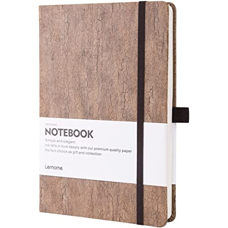 Thick Notebook - Eco-Friendly Natural Cork Hardcover Writing Notebook with Pen Loop & Premium Thick Paper + Page Dividers Gifts, A5 (5x8 ) Bound Notebook