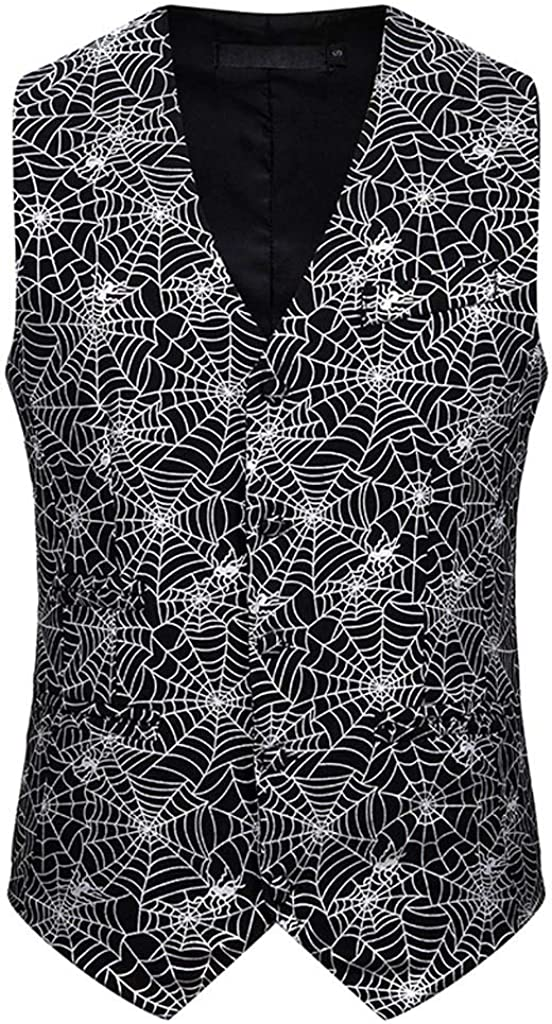 MODOQO Men's Waistcoat Casual Single Brested Sleeveless Vest Suit for Formal Wedding Party Dance