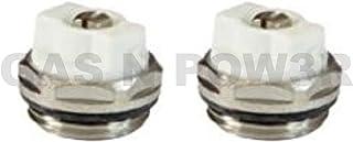 Válvulas de purga manual para radiador, BSP, 2 unidades, 1,27 cm, alta calidad, 2 uds.
