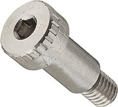 "316 Stainless Steel Shoulder Screw, Plain Finish, Socket Head Cap, Hex Socket Drive, Standard Tolerance, Meets ASME B18.3, 1/4"" Shoulder Diameter, 13/32"" Shoulder Length, Partially Threaded, #10-32 Threads, 1/4"" Thread Length, Made in US, (Pack of 1)"