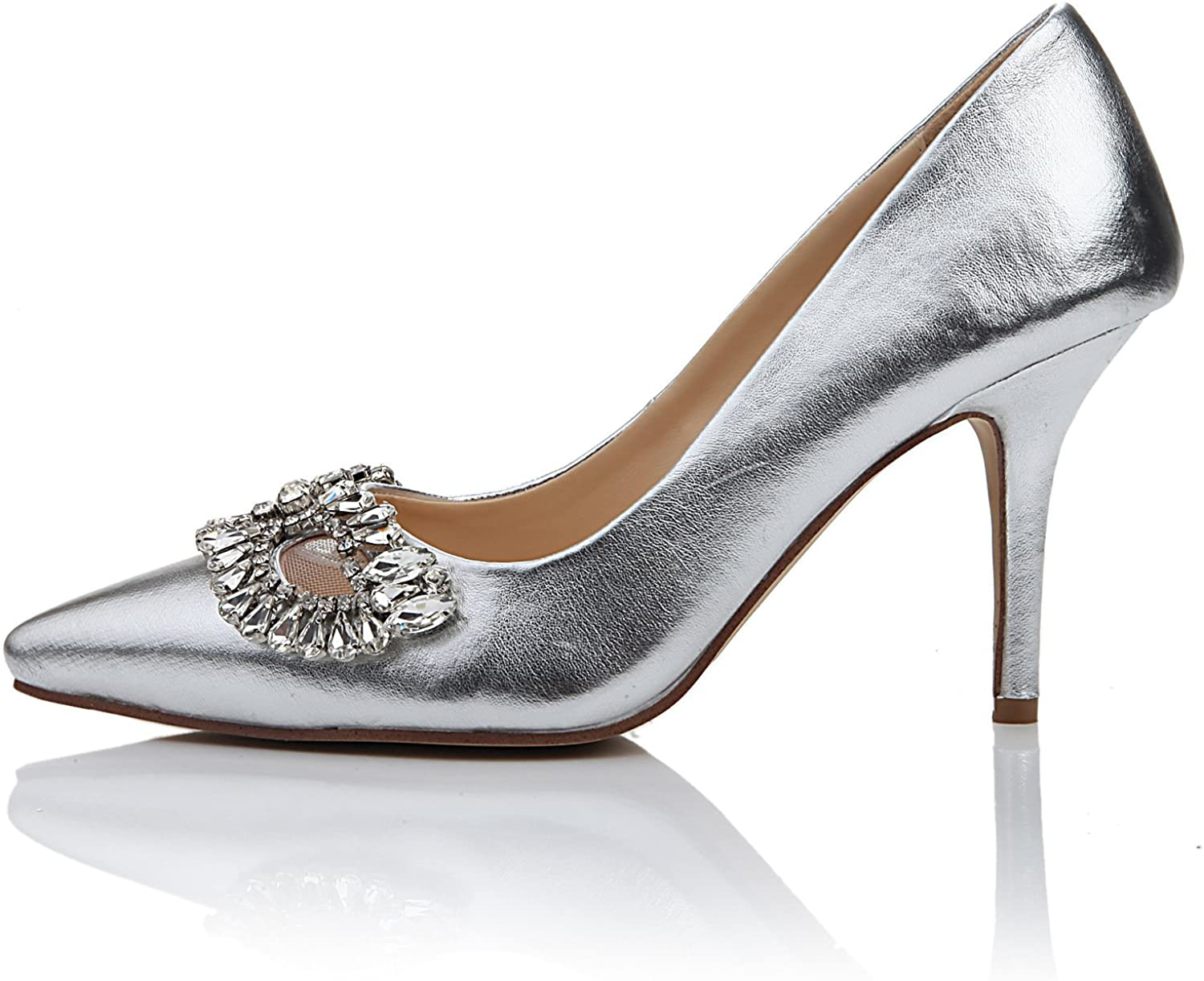 shoesmaker's heart Leather shoes Big Princess shoes shoes Silver Leather Club