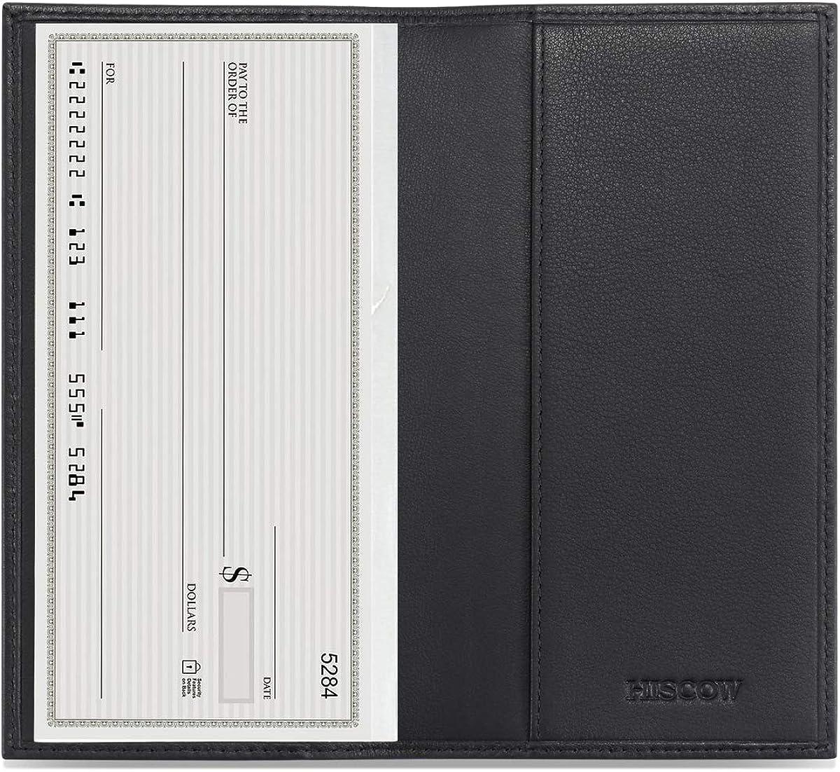 Full Grain Leather HISCOW Minimalist Checkbook Cover