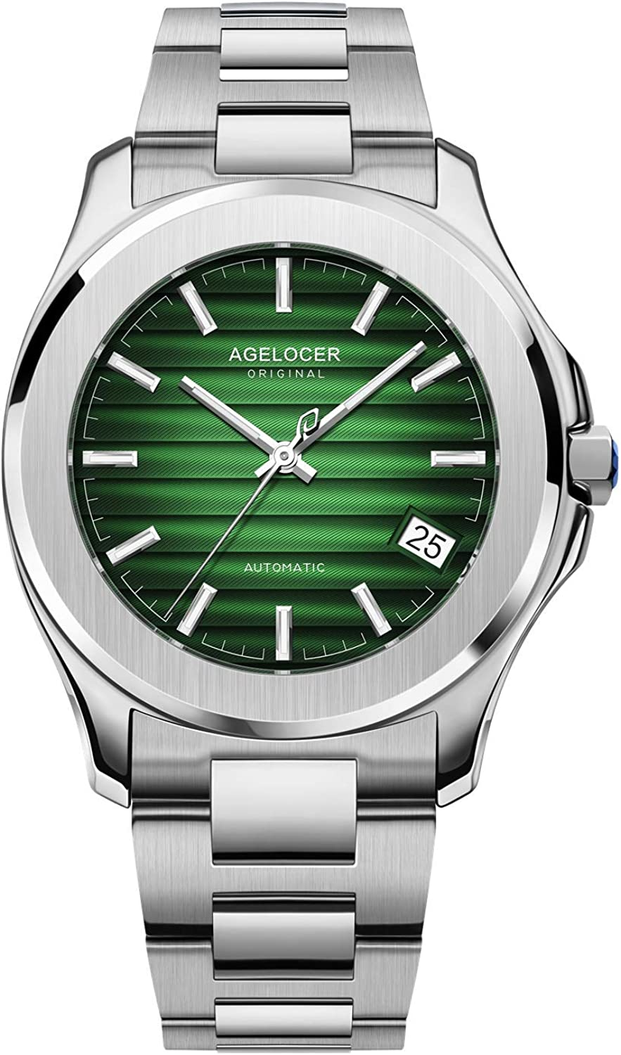Agelocer Men's Top 最新号掲載アイテム Brand 上品 Automatic Luxury Mechanical Stai
