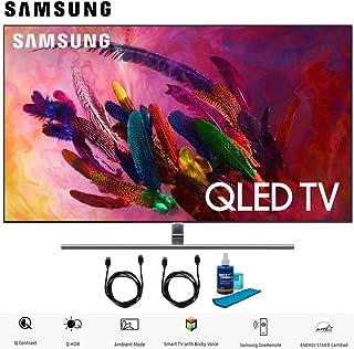 """Samsung QN75Q7 QN75Q7FNA 75"""" Q7FN Smart 4K Ultra HD QLED TV (2018) (QN75Q7FNAFXZA) with 2X 6ft High Speed HDMI Cable + Universal Screen Cleaner for LED TVs QN75Q7F QN75Q7 75Q7F 75Q7"""