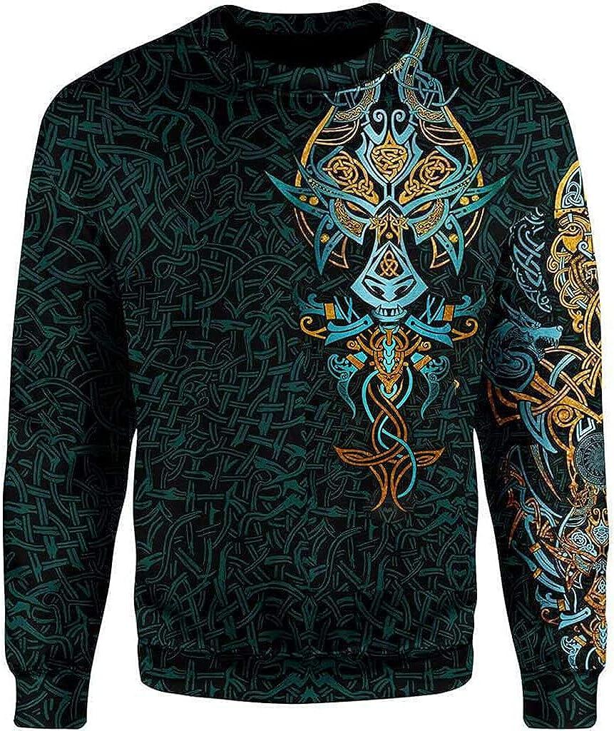 Unisex Hoodies 3D Print Viking Celtic Dragon Pullover Hoody Streetwear, Fashion Harajuku Casual Loose Sweatshirt