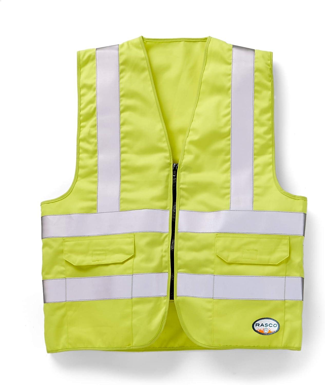 Rasco FR Mens Hi W Visibility Max 67% OFF Limited price Vest Pockets