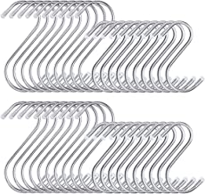 Metal S Hooks for Hanging 40 Pack, 2 Sizes