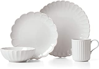 LENOX French Perle Scallop 4-Piece Place Setting, 5.55 LB, White
