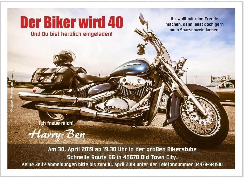 Moderne Einladungen zum Geburtstag 18 20 25 30 40 40 40 mit Spruch - cool lustig Wunschtext ändern, 50 Stück, DIN A5, 21x14,8 cm B074Y9LFTB | Primäre Qualität  f9156f