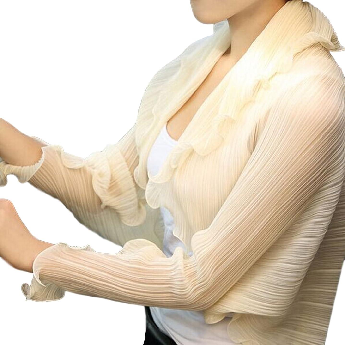 体細胞寛大さ予防接種[ルリジューズ] ストール ボレロ UV 紫外線 カット 日焼け 防止 アーム カバー ショール 長袖 レディース