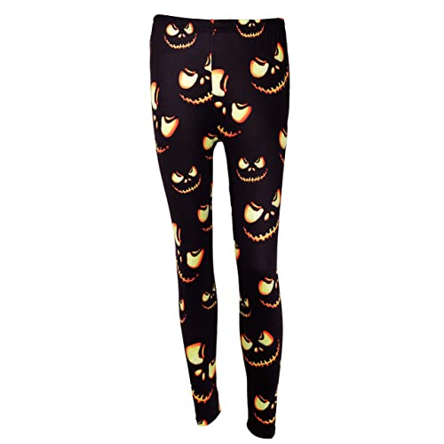 028efc46fe46ed DREAGAL Halloween Fashion 3D Digital Print Stretchy Leggings Multi-Colored  S-3X