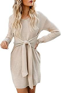 bow sleeve sweater dress