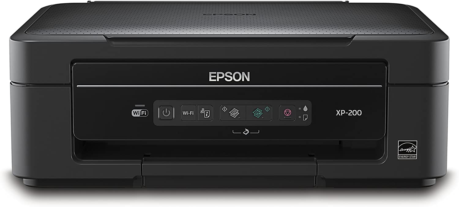 Epson Expression Home XP-200 Wireless All-in-One Color Inkjet Printer, Copier, Scanner (C11CC48201)