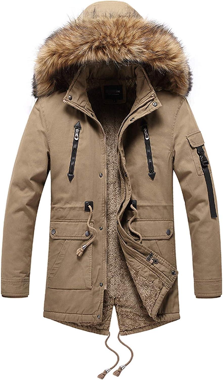 Men Winter Parkas Jacket Men Long Coat Warm Parka Men Fur Collar Fleece Windproof Jackets