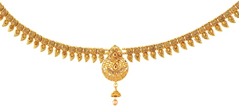 Sanjog Gold Plated Temple Kamarband Belly Chains for Women