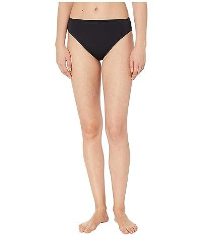 MICHAEL Michael Kors Solids High-Waist High Leg Bikini Bottoms (Black) Women