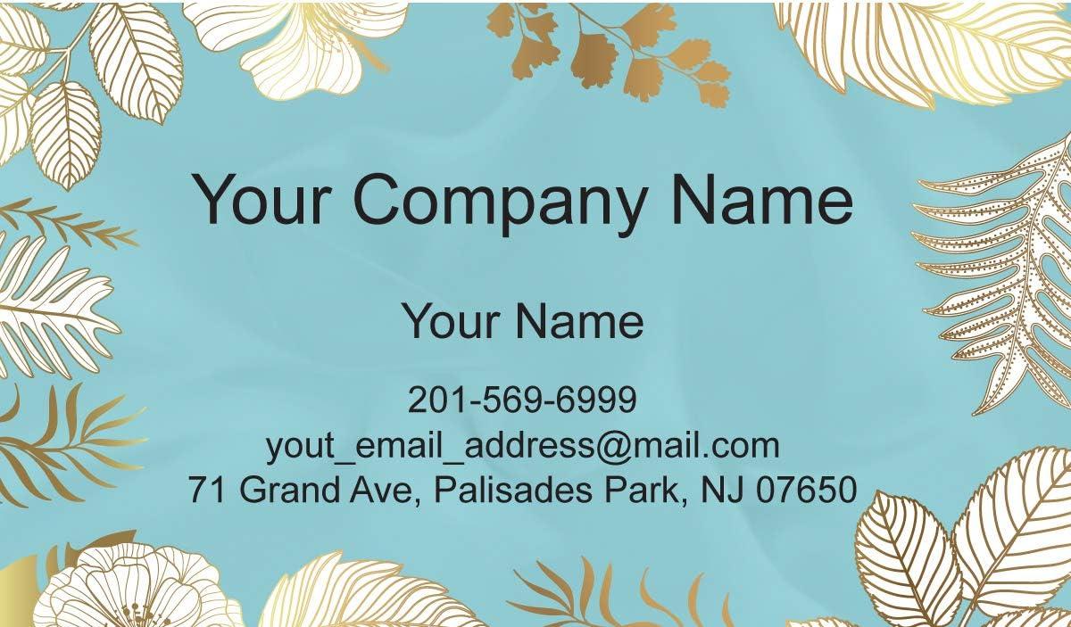 Ranking TOP19 Floral Custom Premium Business Cards 500 Full 129 low-pricing pcs l color -