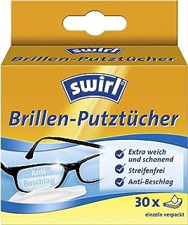 Swirl Bril poetsdoeken - alcoholhoudende vochtige brillenreinigingsdoekjes met anti-condens-effect, 30 stuks