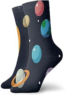 BEDKKJY, Sistema Solar de Calcetines con Planetas solares Personalizado Personalizado de Arranque Corto para Mujer Calcetín de Vacaciones Liquidación para niños