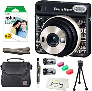 Fujifilm Instax Square SQ6 Instant Film Camera(Taylor Swift Edition)+2 Pack of 10 Instax Square Films+ Camera Bag, Tripod, 2in1 Spray & Brush Lens Pen, and Quality Photo Microfiber Cloth