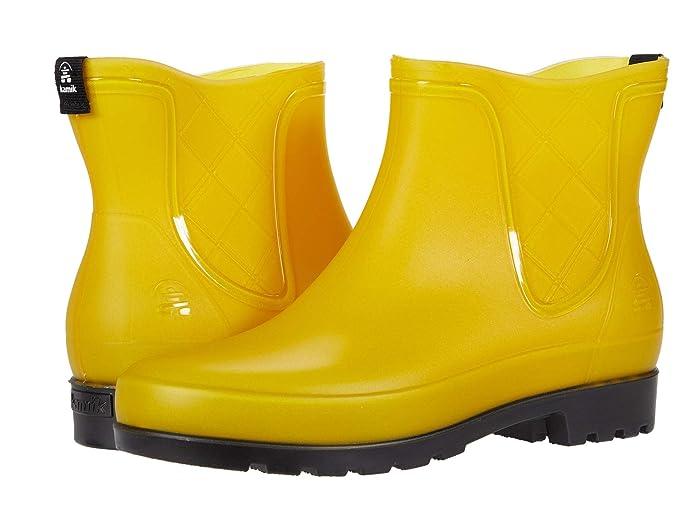 Vintage Boots, Retro Boots Kamik Pippa Yellow Womens Rain Boots $44.95 AT vintagedancer.com