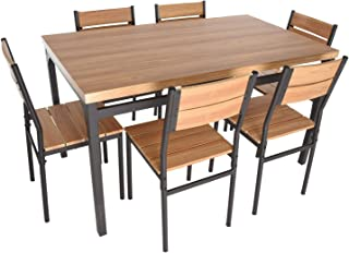 Zenvida 7 Piece Dining Set Rectangular Table and 6 Chairs