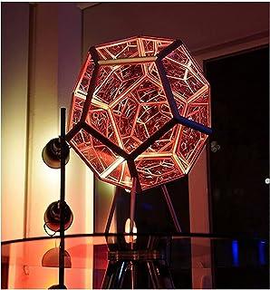 12 المعكرونة 3D ضوء الليل، قاد البوهيمي لون الفن الجو ضوء، الفضاء الحلزونية RGB. ضوء قابل للتعديل ضوء اللون، مصباح الجدول ...