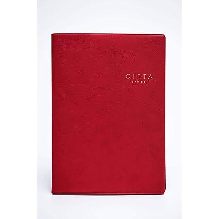 CITTA手帳2021年度版(2020年10月始まり)ルージュレッド
