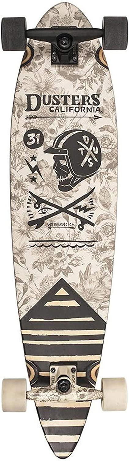 Dusters Off White Moto Grave  37 Inch Longboard Complete (One Size, Beige)