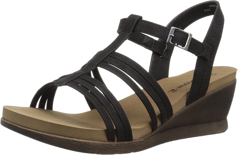 BEARPAW Women's Viola Black Sandal