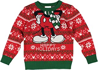 Seven Times Six Disney Mickey Mouse Happy Holiday Faire Isle Toddler Sweater