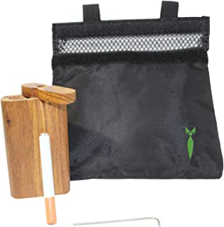 Smell Proof Bag with Raw Wood Stash Box and Baggies