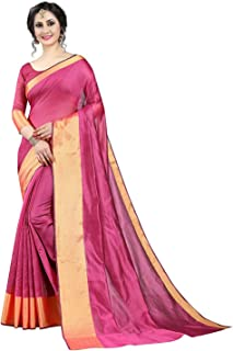 56673e679e6 GLE Cotton Blend Art Silk Saree With Blouse Ideal For Women & Girls (MORE  THAN