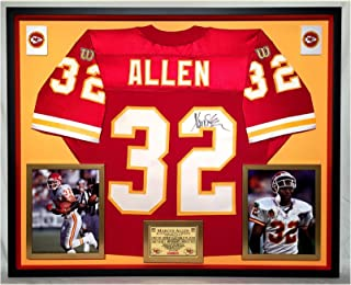 Premium Framed Marcus Allen Autographed/Signed Kansas City Chiefs Official Wilson Proline Jersey - JSA COA