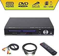 DVD Player-Digital DVD Player for TV Support 1080P Full HD Come with HDMI Cable Remote..