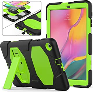 Samsung Galaxy Tab A 10.1 2019 Case SM-T510/T515, Full-Body Rugged Heavy Duty Protective Case with Stand for Samsung Galaxy Tab A 10.1 inch 2019 Tablet SM-T510/T515 (Green+Black)