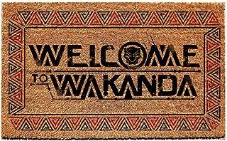 Pyramid America Black Panther Welcome to Wakanda Marvel Comics Outdoor Doormat Door Mat 30x18 inch