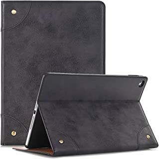 elecfan Case for Galaxy Tab S 8.4 Samsung, Luxury Book Style Folio Case Stand Magnetic PU Leather with Smart Auto Sleep/Wake Feature Cover for Samsung Galaxy Tab S 8.4 Inch SM-T700(Tab S 8.4, Black)