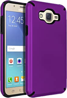 Galaxy J7 (2015) Case,Galaxy J7 Case,SENON Slim-fit Shockproof Anti-Scratch Anti-Fingerprint Protective Case Cover for Samsung Galaxy J7 Neo J700,Purple