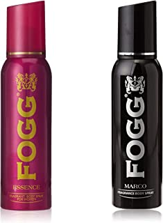 Fogg 1000 Sprays Fragrant Body Spray For Women Essence, 150ml And Fogg Marco Body Spray For Men, 150ml