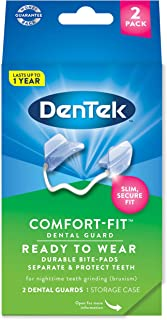 DenTek Comfort-Fit Dental Guard For Nighttime Teeth Grinding, packaging may vary