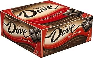 Dove Dark Chocolate Singles Size Candy Bar 1.44-Ounce Bar 18-Count Box