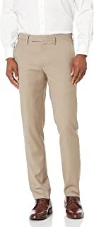 Louis Raphael LUXE Men's Slim Fit Flat Front Stretch Wool Blend Dress Pant