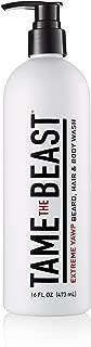 Extreme Yawp Hair, Beard & Mens Body Wash and Shampoo 16 fl oz - Eucalyptus & Menthol Tingle - Caffeine, Green Tea, Vitamins C, E, A 3-in-1 by TAME the BEAST