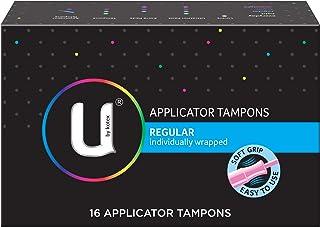 Kotex Regular Applicator Feminine Care Tampons, 16ct